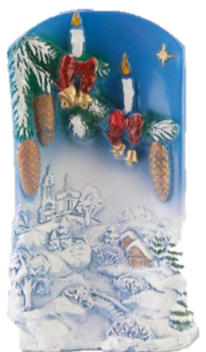 Свеча декоративная Принт Торг Рождественская свеча, высота 16 см98.026Декоративная свеча Принт Торг Рождественская свеча выполнена из парафина. Изделие оформлено в виде зимнего пейзажа и декорировано блестками с еловой веточкой, украшенной игрушками. Свеча отличается ярким дизайном, который понравится всем. Создайте для себя и своих близких незабываемую атмосферу праздника и уюта в доме.