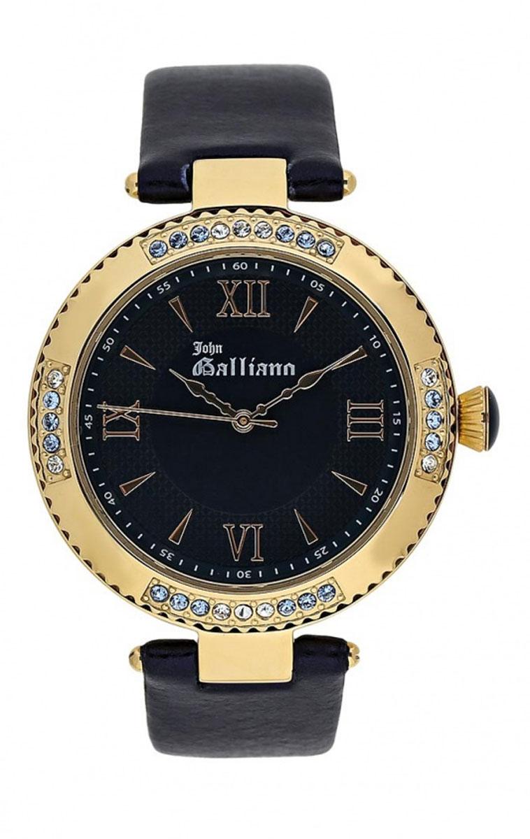 Часы наручные женские Galliano The Refined, цвет: синий, золотой. R2553123505R2553123505Элегантные женские часы Galliano The Refined выполнены из металлического сплава, натуральной кожи и минерального стекла. Корпус часов инкрустирован стразами, циферблат дополнен символикой бренда. Корпус часов оснащен кварцевым механизмом, имеет степень влагозащиты равную 3 atm, а также дополнен устойчивым к царапинам минеральным стеклом. Ремешок часов оснащен классической пряжкой, которая позволит с легкостью снимать и надевать изделие. Часы поставляются в фирменной упаковке. Часы Galliano The Refined подчеркнут изящность женской руки и отменное чувство стиля у их обладательницы.