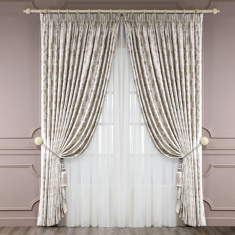 Комплект штор Сиена, 250х275-2/500х275-1/кисти-240.13.64.0174Состав:60% вискоза, 40% полиэстер Цвет:золотой Комплектация: 2 полотна, 1 тюль, 2 подхвата Размеры: 250х275 - 2 полотна , 500х275 - 1 тюль 2 Детали: : классический крой, вензельный орнамент в стиле барокко, подклад, подхваты в виде кистей, тюль из органзы Уход: необходима профессиональная химчистка или деликатная стирка при температуре 40°С с использованием мягких моющих средств для деликатных тканей. Избегать воздействия прямых солнечных лучей. Гладить с увлажнителем. Не отбеливать.