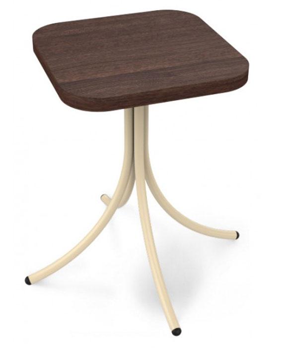 Табурет «Sheffilton», цвет: темно-коричневый, молочный, 32 см х 32 см х 46 см. SHT-S23  овальный журнальный столик на колесиках