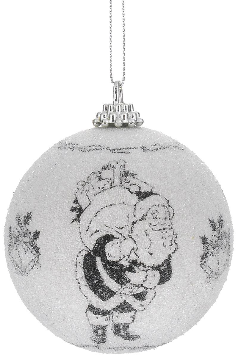 Новогоднее подвесное украшение Winter Wings Дед Мороз, цвет: белый, черный, диаметр 7,5 см. N069491N069491Новогоднее украшение Winter Wings Дед Мороз отлично подойдет для декорации вашего дома и новогодней ели. Украшение выполнено из картона в виде шара. Изделие оформлено изображением Деда Мороза и покрыто декоративной прозрачной крошкой. С помощью специальной петельки украшение можно повесить в любом понравившемся вам месте. Елочная игрушка - символ Нового года. Она несет в себе волшебство и красоту праздника. Создайте в своем доме атмосферу веселья и радости, украшая всей семьей новогоднюю елку нарядными игрушками, которые будут из года в год накапливать теплоту воспоминаний.