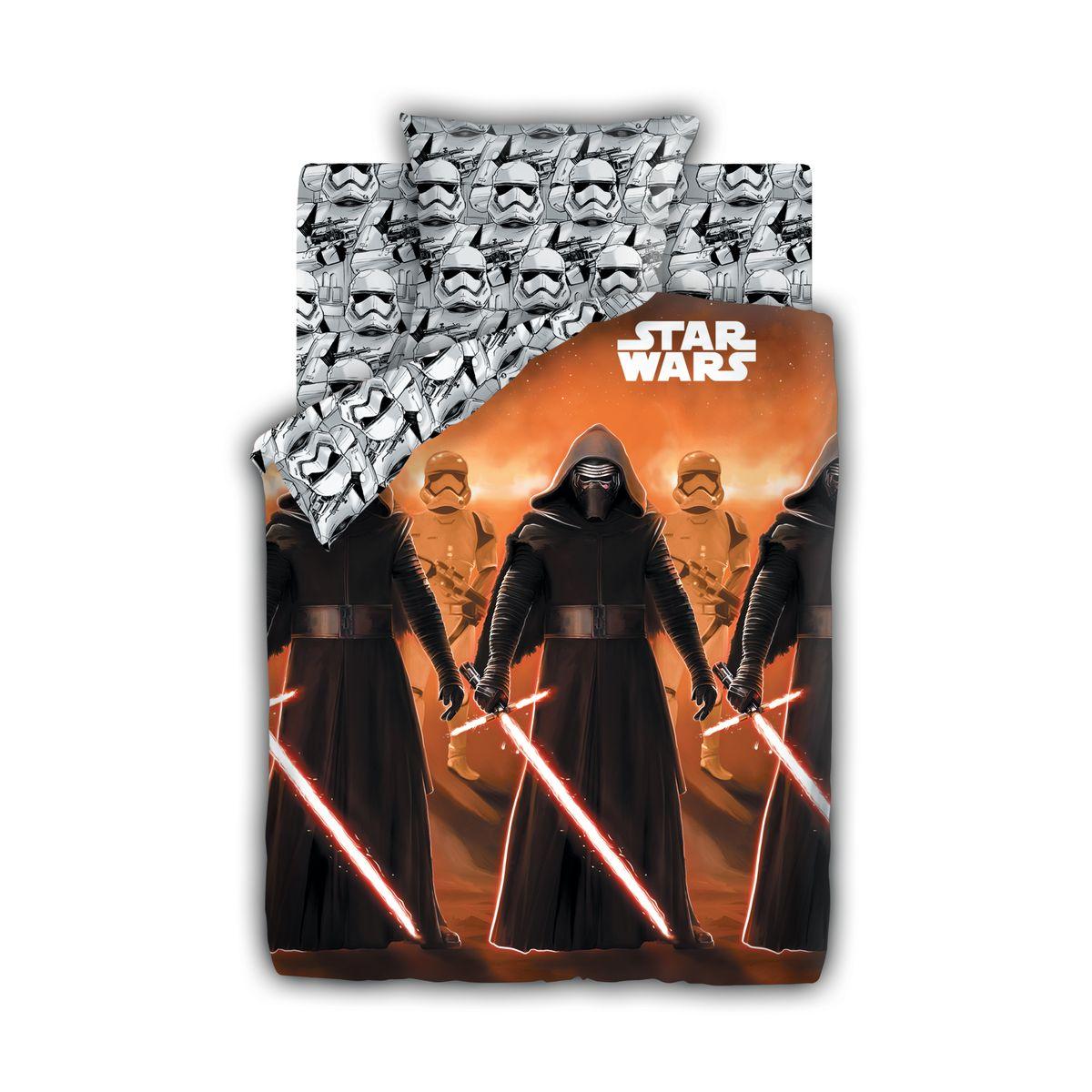Star Wars Комплект постельного белья детский Neon Кайло Рен и Штурмовики 1,5-спальный наволочка 70х70325903
