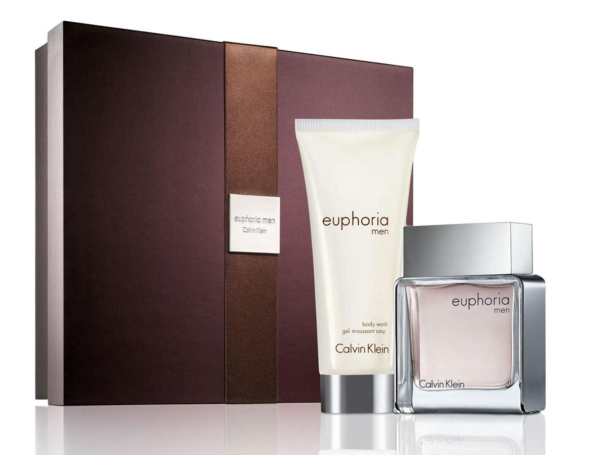 "Calvin Klein ""Euphoria For Men"" Подарочный набор: Туалетная вода 50 мл + гель для душа 100 мл"