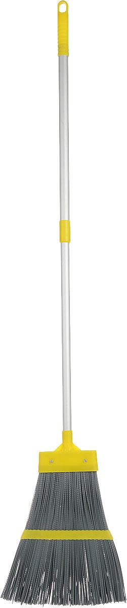 Метла Fratelli RE, с телескопической ручкой, цвет: желтый, серый, 106-150 см11673-A_желтый, серыйМетла Fratelli RE - очень важный инструмент, предназначенный для уборки улиц, дворов, производственных помещений, садовых и дачных участков. Метла снабжена жестким ворсом и прочной ручкой с петелькой для подвешивания. Оригинальная, современная, удобная метла сделает уборку эффективнее и приятнее. Длина ручки: 106-150 см. Размер рабочей части метлы: 32 см х 30 см х 2 см.