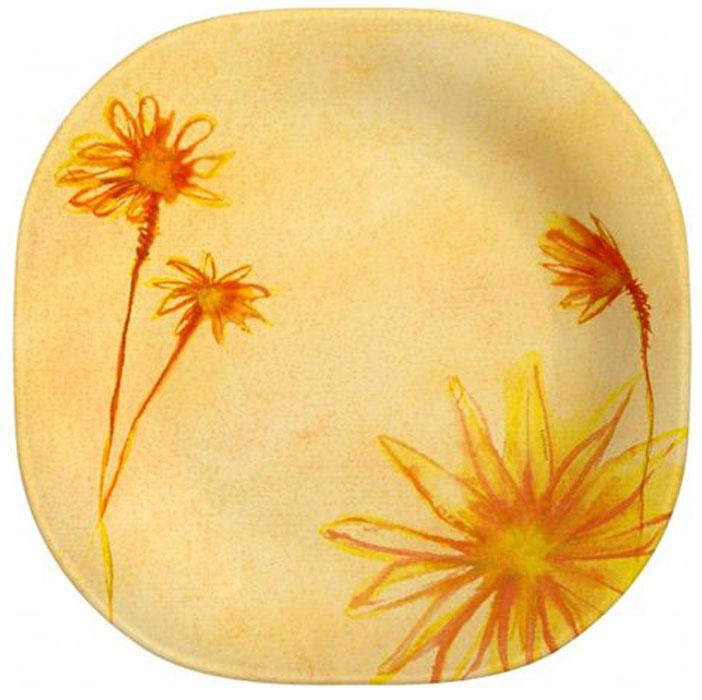 Тарелка Luminarc Sunrise, 20 см х 20,3 смН9110Тарелка Luminarc Sunrise выполнена из высококачественного стекла и украшена изображением цветов. Изделие сочетает в себе изысканный дизайн с максимальной функциональностью. Она прекрасно впишется в интерьер вашей кухни и станет достойным дополнением к кухонному инвентарю. Тарелка Luminarc подчеркнет прекрасный вкус хозяйки и станет отличным подарком. Размер тарелки (по верхнему краю): 20 см х 20,3 см. Высота стенки: 3 см.