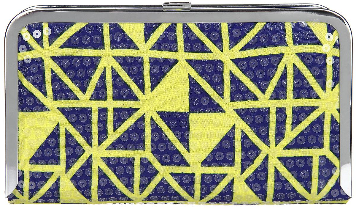 Клатч женский Labbra, цвет: фиолетовый, желтый. L-14881-1L-14881-1Великолепный женский клатч Labbra, выполненный из полиэстера и металла, оформлен оригинальным принтом и пайетками. Изделие имеет одно основное отделение, внутри которого имеется открытый накладной карман. Закрывается клатч на металлическую защелку. Модель оснащена плечевым ремнем в виде цепочки. Стильный клатч внесет элегантные нотки в ваш образ и подчеркнет ваше отменное чувство стиля.