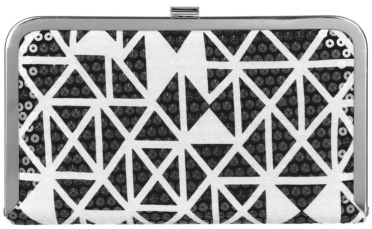 Клатч женский Labbra, цвет: черный, белый. L-14881-1L-14881-1Великолепный женский клатч Labbra, выполненный из полиэстера и металла, оформлен оригинальным принтом и пайетками. Изделие имеет одно основное отделение, внутри которого имеется открытый накладной карман. Закрывается клатч на металлическую защелку. Модель оснащена плечевым ремнем в виде цепочки. Стильный клатч внесет элегантные нотки в ваш образ и подчеркнет ваше отменное чувство стиля.