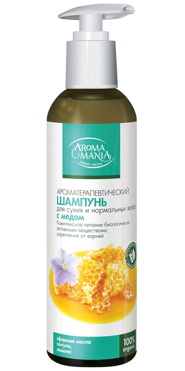 Аромамания шампунь с медом, 250 мл4747Шампунь для сухих и нормальных волос медовый- Комплексное питание биологически активными веществами, укрепление корней, поддержание здорового баланса влажности .