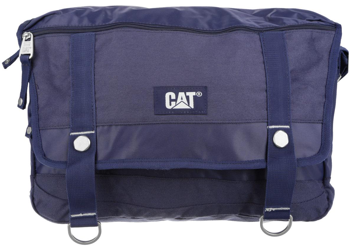 Сумка на плечо Caterpillar Code, цвет: синий, 14 л82943-157Стильная сумка Caterpillar Code выполнена из полиэстера и нейлона. Изделие имеет одно основное отделение, закрывающееся на застежку-молнию. Внутри имеется мягкий карман для ноутбука (15,6), закрывающийся на хлястик с липучкой. Закрывается сумка на клапан с липучками. Клапан оснащен прорезным карманом на застежке-молнии. Снаружи, на передней стенке под клапаном находится прорезной карман на застежке-молнии. На задней стенке предусмотрен дополнительный карман на застежке-молнии. Сумка оснащена текстильным плечевым ремнем, который регулируется по длине, и удобной ручкой. Стильная сумка Caterpillar Code станет незаменимой в повседневной жизни.