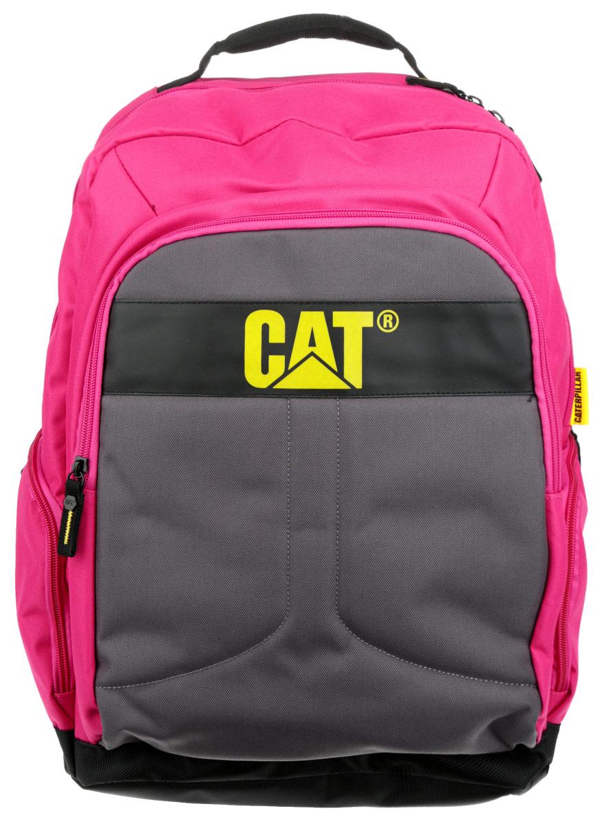 Рюкзак Caterpillar Colegio, цвет: серый, фуксия, черный, 23 л83060-163Стильный рюкзак Caterpillar Colegio изготовлен из полиэстера. Рюкзак имеет одно основное отделение, которое закрывается на застежку-молнию с двумя бегунками. Внутри содержится отделение для ноутбука (15,6) с мягким карманом для планшета, которое закрывается на хлястик с липучкой. Снаружи, на передней стенке расположен накладной карман на застежке- молнии, внутри которого находится два накладных открытых кармашка и два держателя для авторучек. По бокам расположены дополнительные карманы на застежках-молниях. Спинка с сетчатой поверхностью хорошо пропускает воздух. Рюкзак оснащен удобными широкими лямками с мягкой подкладкой, которые регулируются по длине. Лямки дополнены перемещаемым нагрудным ремнем, который регулируется по длине. Текстильная ручка удобна для подвешивания модели и для переноски в руках. Стильный рюкзак Caterpillar Colegio эффектно дополнит ваш яркий образ и станет незаменимым в повседневной жизни.