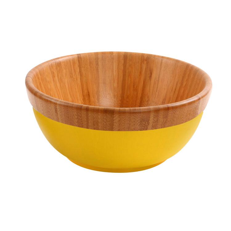 Набор для салата Mayer & Boch Бамбук, цвет: желтый, коричневый, 3 предмета, диаметр 27 см23266_желтыйНабор для салата Mayer & Boch Бамбук выполнен из высококачественного бамбука и состоит из салатника, 1 ложки и 1 вилки. Он подходит как для холодных закусок, так и для масляных салатов. Салатник покрыт пищевым лаком, совершенно нетоксичным и безвредным для здоровья. Лак препятствует впитыванию влаги в изделие, тем самым продлевает срок его службы. Выбирая для дома посуду из бамбука, вы получаете не только безопасность и уют натуральных материалов, но и высокое качество изделий. Оригинальный дизайн набора для салата Mayer & Boch Бамбук придется по вкусу и ценителям классики, и тем, кто предпочитает утонченность и изысканность. Такой набор настроит на позитивный лад и подарит хорошее настроение всем, кто любит готовить. Диаметр (по верхнему краю): 27 см. Диаметр дна: 15,5 см. Высота стенок: 12 см. Объем: 4 л. Длина ложки: 28 см. Длина вилки: 27,5 см.