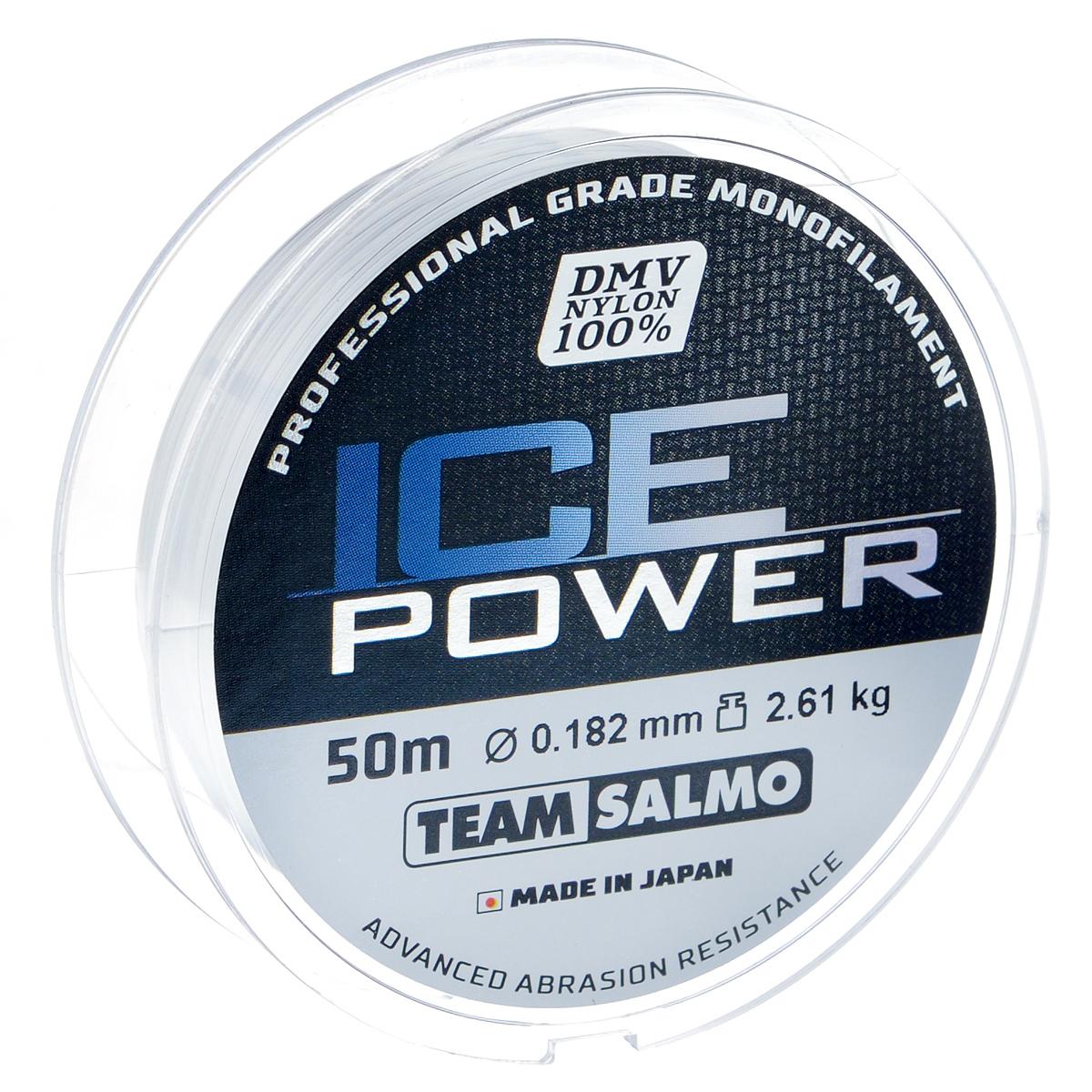 Леска монофильная Team Salmo Ice Power, сечение 0,182 мм, длина 50 мTS4924-018Team Salmo Ice Power - это леска последнего поколения, идеально калиброванная по всей длине, с точностью, определяемой до третьего знака. Материал, из которого изготовлена леска, обладает повышенной абразивной устойчивостью и не взаимодействует с водой, поэтому на морозе не теряет своих физических свойств, что значительно увеличивает срок ее службы. У лески отсутствует память, поэтому в процессе эксплуатации она не деформируется. Низкий коэффициент растяжимости делает леску максимально чувствительной, при этом она практически незаметна для рыбы. Леска производится использованием самого высококачественного сырья и новейших технологий.