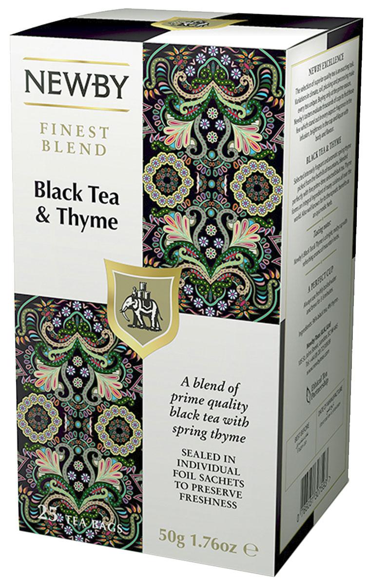 Newby Black Tea and Thym черный чай с чабрецом в пакетиках, 25 шт311260Насыщенный черный чай Newby Black Tea and Thym с терпким ароматом горного чабреца придаст сил и согреет вас в любое время дня.