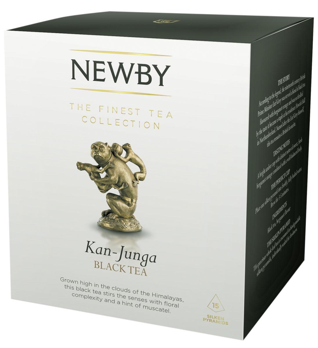 Newby Kan-Junga черный чай в пирамидках, 15 шт601430AСобранный на склонах Гималаев, высокогорный чай весеннего сбора Newby Kan-Junga имеет светлый настой, цветочный аромат и легкий мускатный привкус. Каждая пирамидка упакована в индивидуальное саше из алюминиевой фольги для сохранения свежести чайного листа.