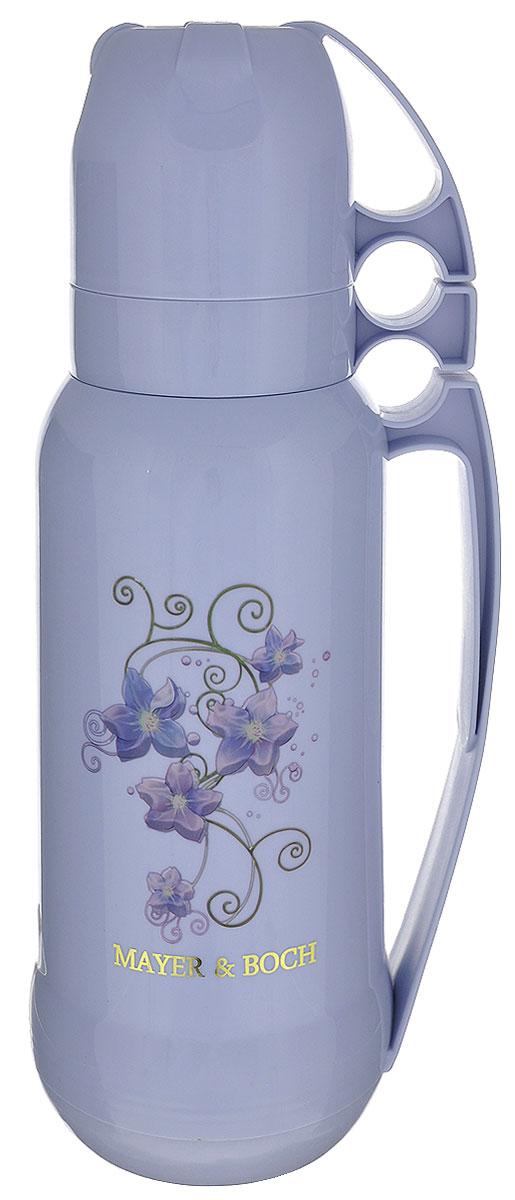 """Термос """"Mayer & Boch"""", с 2 чашами, цвет: голубой, 1,8 л. 21648"""