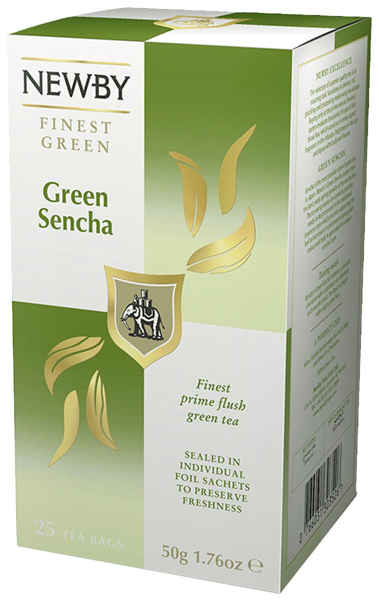 Newby Green Sencha зеленый чай в пакетиках, 25 шт310080Традиционный китайский зеленый чай Newby Green Sencha собран ранней весной обладает свежим рисовым ароматом и станет вашим неизменным спутником в течение всего дня!
