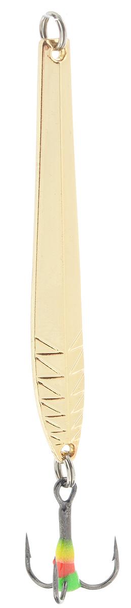 Блесна зимняя SWD, цвет: золотой, 60 мм, 5 г48274Блесна зимняя SWD - это классическая вертикальная блесна. Выполнена из высококачественного металла. Предназначена для отвесного блеснения рыбы. Блесна оснащена тройником со светонакопительной каплей.