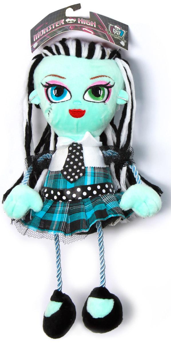 Monster High Кукла плюшевая Фрэнки ШтейнТ57414Плюшевая кукла Monster High Фрэнки Штейн будет замечательным подарком для маленькой поклонницы Monster High. Очаровательная кукла с вышитым личиком и длинными волосами из пряжи одета в платье с отделкой сеточкой и серебряной нитью, с атласным галстуком и поясом. Ножки и ручки куклы выполнены из декоративного шнура. Размер в полный рост - 35 см.