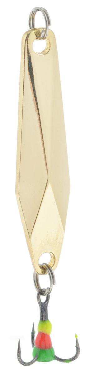 Блесна зимняя SWD, цвет: золотой, 48 мм, 7 г48242Блесна зимняя SWD - это классическая вертикальная блесна. Выполнена из высококачественного металла. Предназначена для отвесного блеснения рыбы. Блесна оснащена тройником со светонакопительной каплей.