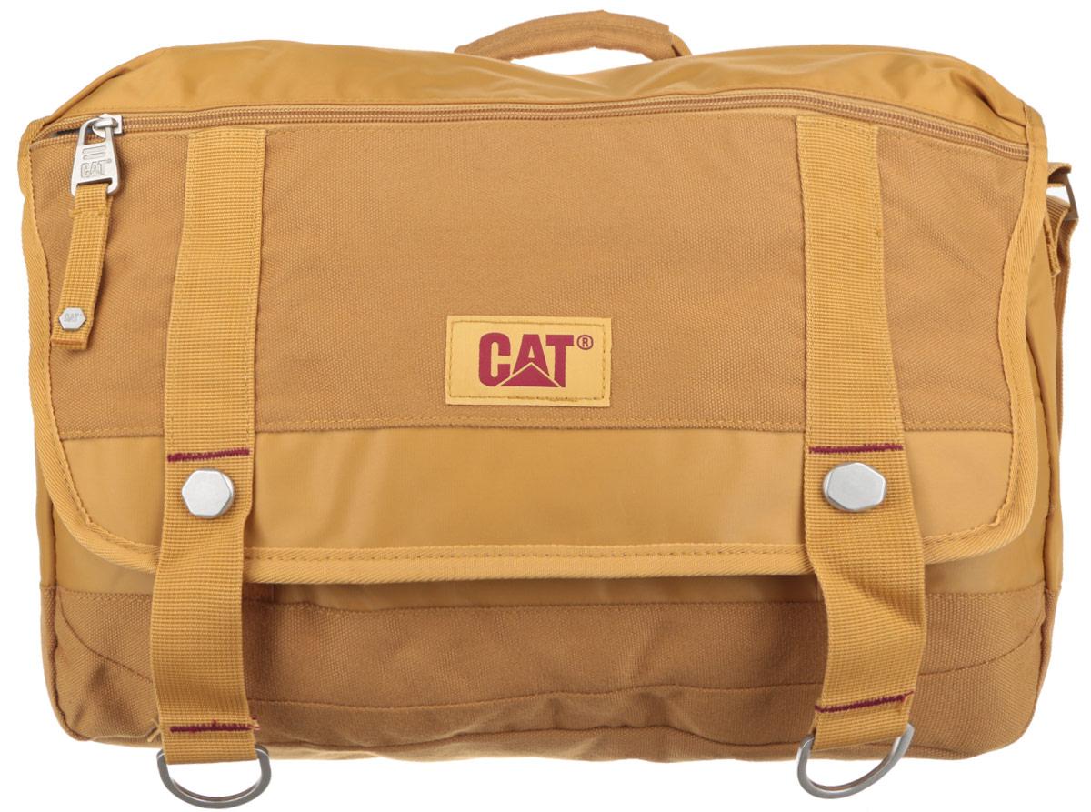 Сумка на плечо Caterpillar Code, цвет: песочный, 14 л82943-108Стильная сумка Caterpillar Code выполнена из полиэстера и нейлона. Изделие имеет одно основное отделение, закрывающееся на застежку-молнию. Внутри имеется мягкий карман для ноутбука (15,6), закрывающийся на хлястик с липучкой. Закрывается сумка на клапан с липучками. Клапан оснащен прорезным карманом на застежке-молнии. Снаружи, на передней стенке под клапаном находится прорезной карман на застежке-молнии. На задней стенке предусмотрен дополнительный карман на застежке-молнии. Сумка оснащена текстильным плечевым ремнем, который регулируется по длине, и удобной ручкой. Стильная сумка Caterpillar Code станет незаменимой в повседневной жизни.
