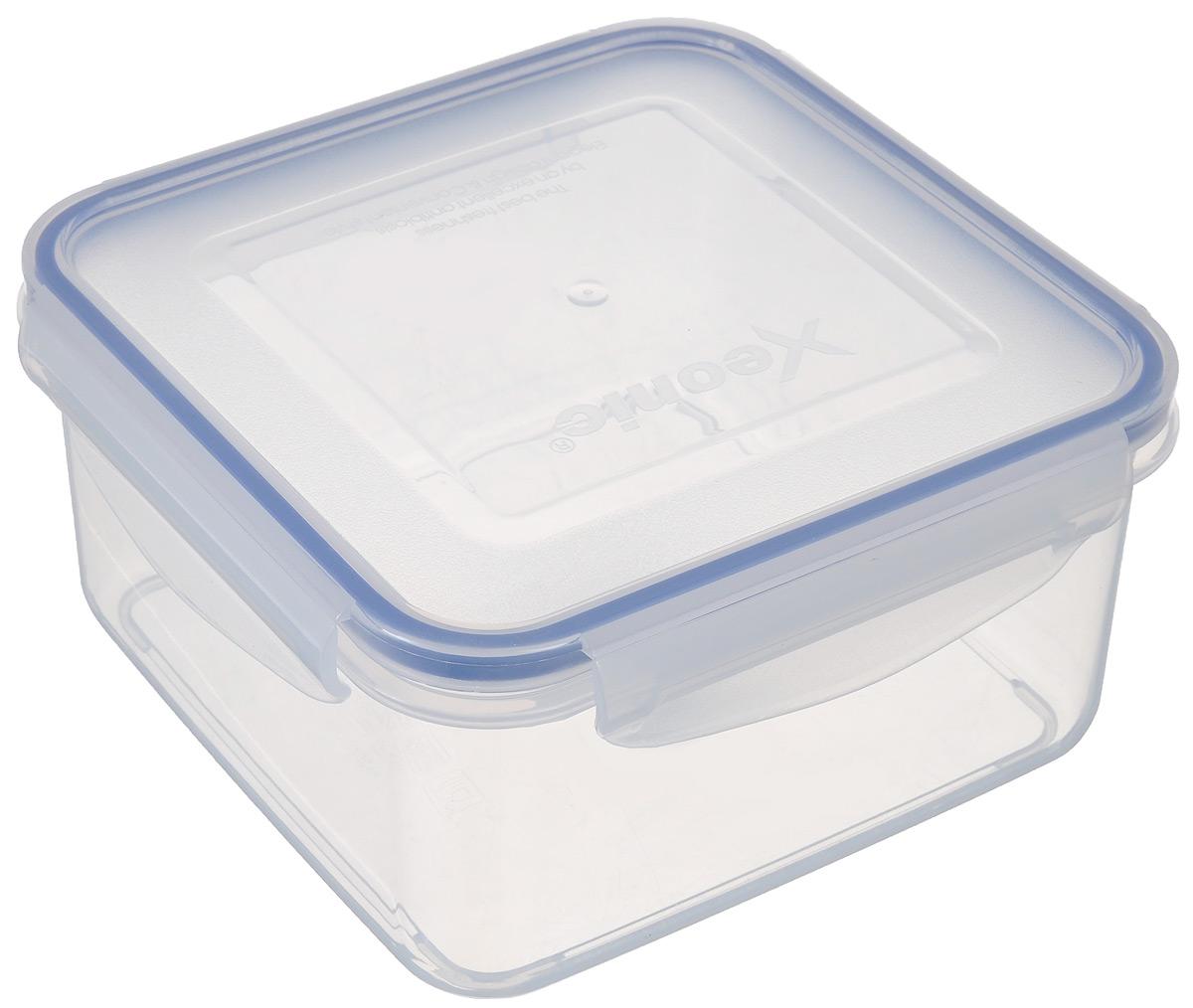 Контейнер пищевой Xeonic, 1,4 л810001Герметичный контейнер для хранения продуктов Xeonic произведен из высококачественного полипропилена. Изделие термоустойчиво, может быть использовано в микроволновой печи и в морозильной камере, устойчиво к воздействию масел и жиров, не впитывает запах. Контейнер удобен в использовании, долговечен, легко открывается и закрывается. Герметичность обеспечивается четырьмя защелками и силиконовой прослойкой на крышке. Контейнер компактен и не займет много места. Можно мыть в посудомоечной машине.