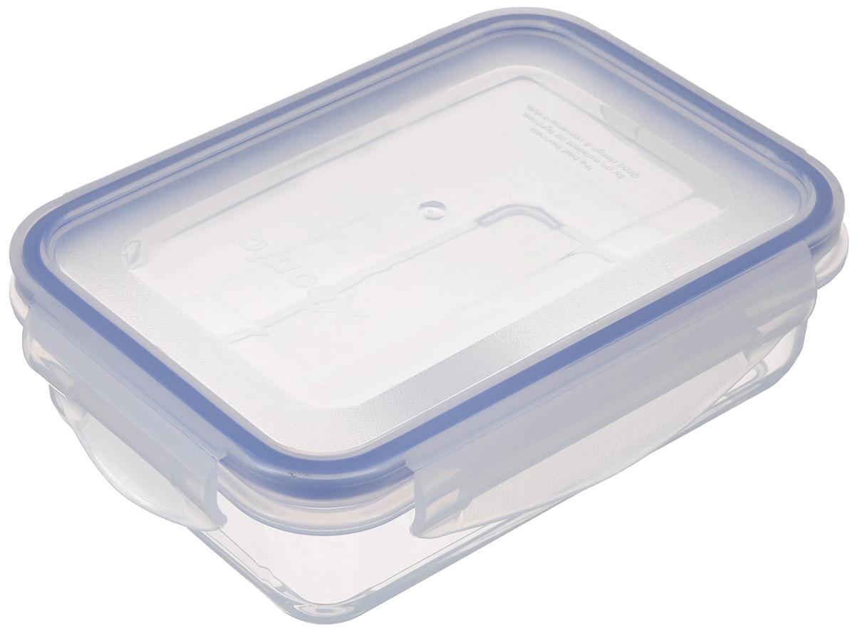 Контейнер пищевой Xeonic, 480 мл810022Герметичный контейнер для хранения продуктов Xeonic произведен из высококачественного полипропилена. Изделие термоустойчиво, может быть использовано в микроволновой печи и в морозильной камере, устойчиво к воздействию масел и жиров, не впитывает запах. Контейнер удобен в использовании, долговечен, легко открывается и закрывается. Герметичность обеспечивается четырьмя защелками и силиконовой прослойкой на крышке. Контейнер компактен и не займет много места. Можно мыть в посудомоечной машине.