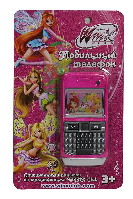 1TOY Мобильный телефон Winx цвет ярко-розовый ( Т55636 )