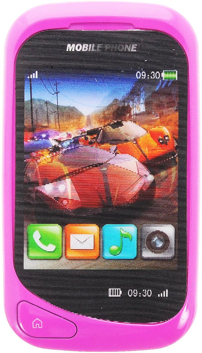 S+S Toys Музыкальная игрушка Сотовый телефончикСС75447Оригинальная игрушка Мобильный телефон привлечет внимание вашего ребенка и не позволит ему скучать. Игрушка выполнена из фиолетового пластика в виде сенсорного телефона. Трудно поверить, что этот телефон всего лишь игрушка, ведь он выглядит как настоящий! Игра с телефоном будет интересной, так как в нем есть цветной дисплей со стереокартинками с машинками. На игрушке имеются кнопки, при нажатии на которые, ребенок сможет послушать веселые фразы, стишки, мелодии, научиться навыкам общения по телефону. Порадуйте своего ребенка таким замечательным подарком! Игрушка работает от 2 батареек AG13 (комплектуется демонстрационными).