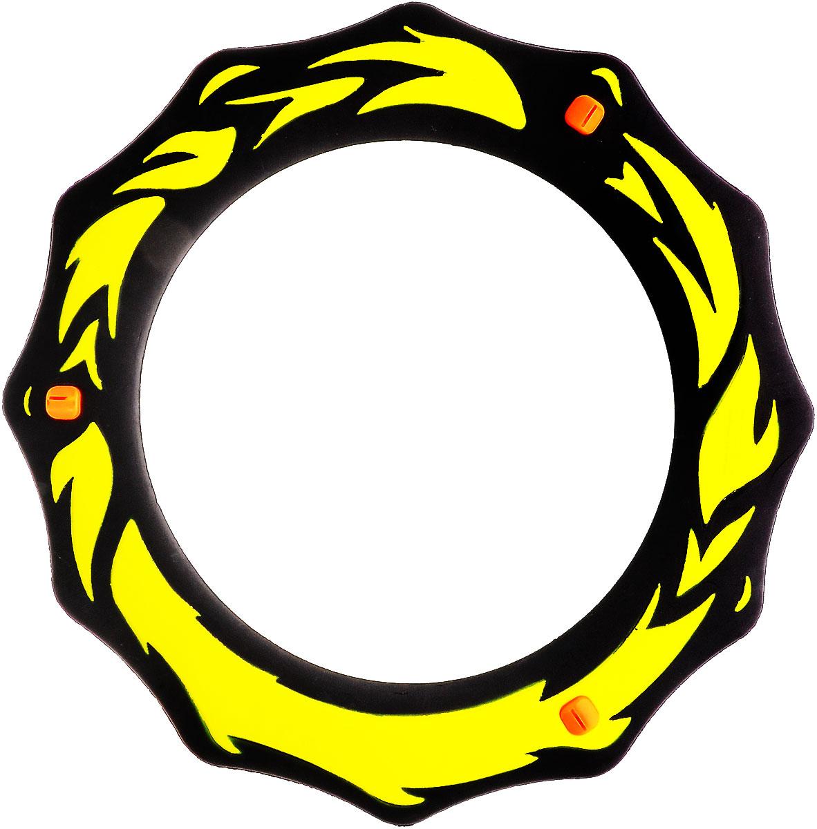 Simba Летающее кольцо цвет черный желтый7201411_черный, желтыйЛетающее кольцо сделает отдых на природе веселым и увлекательным. Оформленное стильными языками пламени, кольцо предназначено для полетов в воздухе. На поверхности кольца есть три желобка, которые при полете издают свист и делают игру еще веселее.