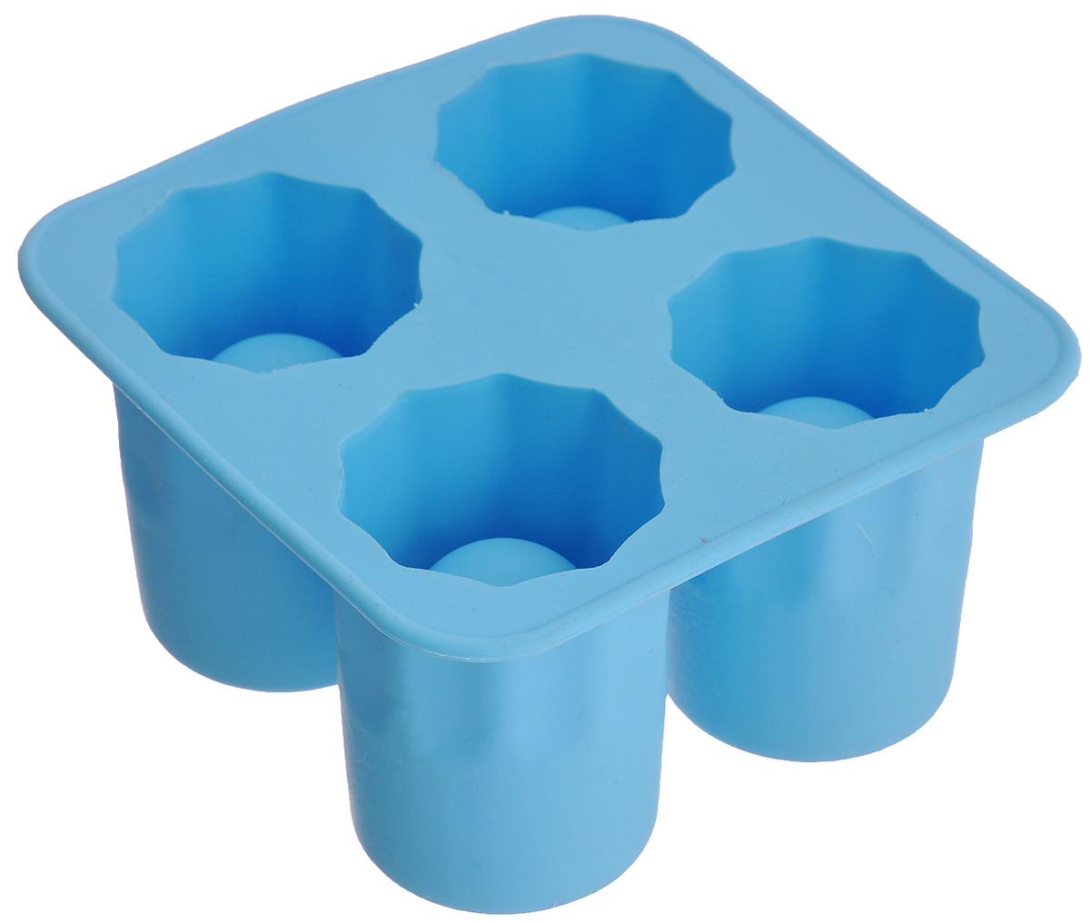 Форма для льда Bradex Ледяные стопкиSU 0008Форма для льда Bradex Ледяные стопки изготовлена из пищевой термопластичной резины. Форма содержит 4 ячейки, которые помогут сделать не просто фигурный лед, а настоящие стопки изо льда. Налейте воду в форму, поставьте ее в морозильную камеру, и ледяные стопки готовы! В такой рюмке ваши любимые горячительные напитки моментально остынут до нужной температуры. Ледяные стопки не нужно мыть: оставьте их в раковине, они сами растают. Фантазируйте! Стопки можно делать из любой жидкости. Заливайте в форму сок, молоко или другие жидкости, чтобы удивлять своих друзей оригинальными ледяными стопками! Размер стопки: 4 см х 3,8 см х 5,5 см. Общий размер формы: 10 см х 10 см х 5,5 см.