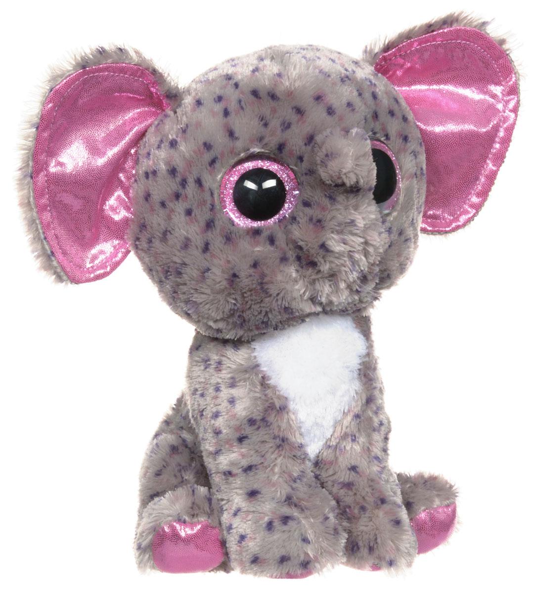 TY Мягкая игрушка Слон Specks 25 см37039Мягкая игрушка TY Слон Specks обязательно вызовет положительные эмоции и улыбку у каждого. Игрушка изготовлена из безопасных, приятных на ощупь материалов в виде милого слоненка. У игрушки блестящие фиолетовые лапки, ушки, большие глазки и мягкая пятнистая шубка. Гранулы из пластика, используемые при набивке игрушки, способствуют развитию мелкой моторики рук ребенка. Симпатичная игрушка будет радовать вашего ребенка, а также способствовать полноценному и гармоничному развитию его личности. Великолепное качество исполнения делают эту игрушку чудесным подарком к любому празднику, как для ребенка, так и для взрослого!