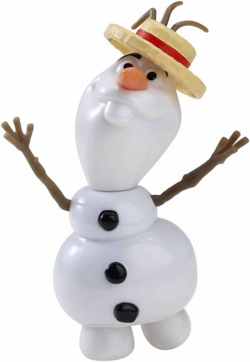 Disney Frozen Фигурка Снеговик ОлафCJW68Добродушный Снеговик Олаф уже спешит к вам, чтобы спеть вместе с вами красивую песню из известного мультфильма. Фигурка Disney Frozen Снеговик Олаф оснащена специальным звуковым модулем, с помощью которого этот милый персонаж может воспроизводить известную поклонникам мультфильма мелодию. А включить фигурку проще простого - достаточно нажать на верхнюю пуговку, расположенную на теле фигурки. Забавный снеговик полностью выполнен по образу персонажа Холодного сердца. У Олафа подвижная голова - ее можно повернуть на 360 градусов или отсоединить вообще. Также у снеговика снимается шляпка, а ручки-веточки являются подвижными. Нос-морковка у Олафа сделан из мягкого материала, чтобы его кончик не был острым - поэтому игра с фигуркой будет безопасна для ребенка. Порадуйте своего ребенка такой замечательной игрушкой! Рекомендуется докупить 3 батарейки типа АG13 (товар комплектуется демонстрационными).