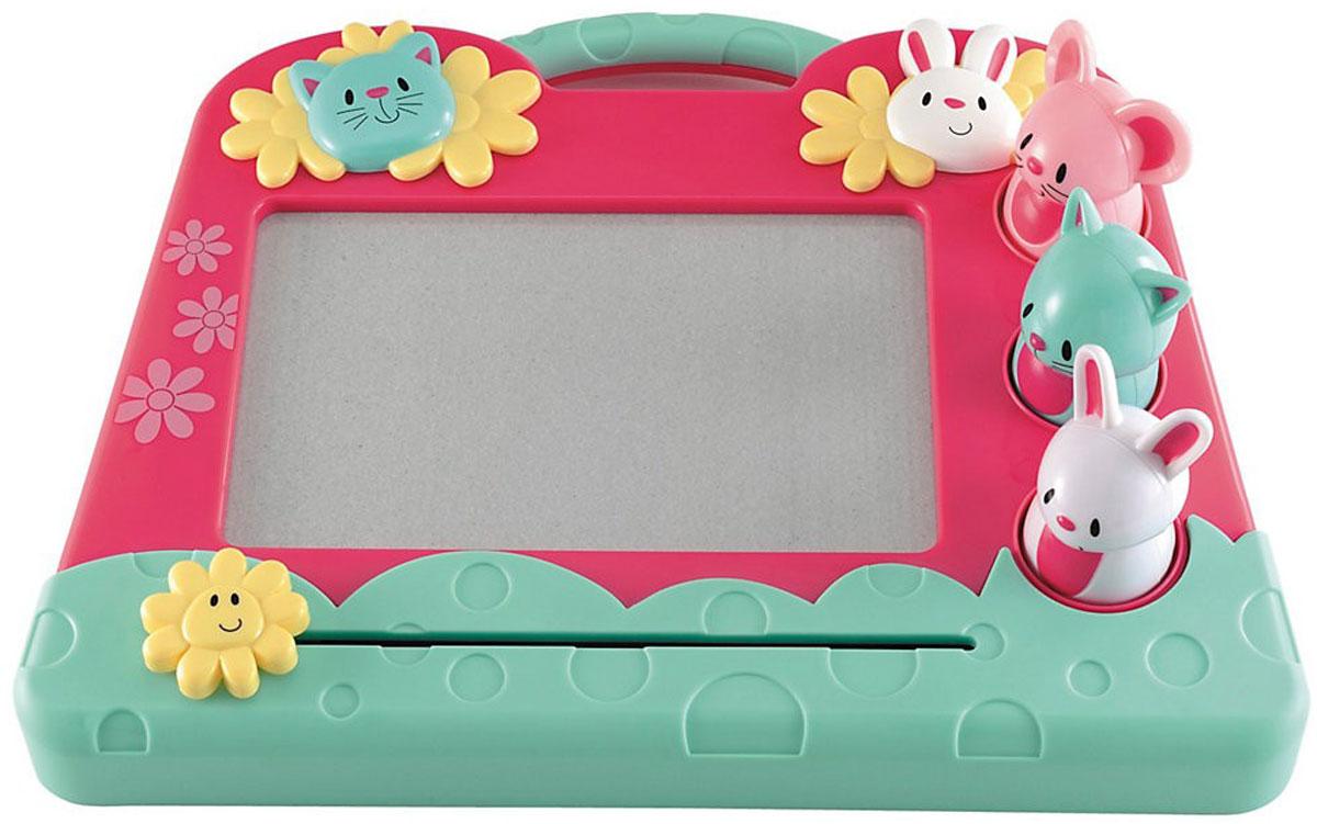 ELC Экран для рисования Зверушки132607Ребенок сможет сколько угодно писать и рисовать, не пачкаясь и не использовать бумагу! Экран для рисования ELC Зверушки с магнитной стружкой выполнен в ярких тонах. Сбоку располагаются инструменты для рисования. Ручка - кролик, зиг-заг - мышка, отпечаток лапы штамп - кошечка. Инструменты специально разработаны для маленькой детской ручки. Благодаря удобному дизайну, экран всюду можно брать с собой. Ваш ребенок часами будет играть с такой игрушкой. Порадуйте его таким подарком! Игры с экраном для рисования способствуют самовыражению вашего ребенка, развитию творческого мышления и воображения.