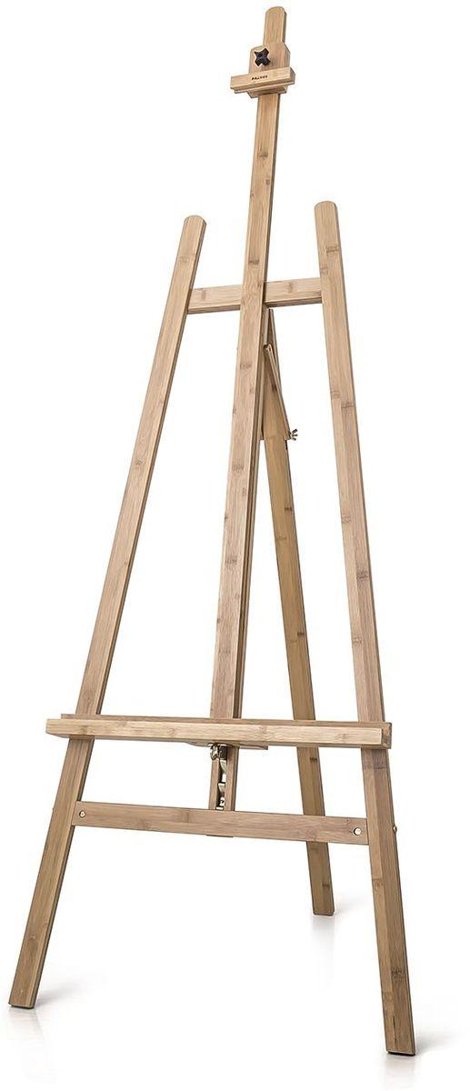 Малевичъ Мольберт Лира МЛ-08112008Мольберт лира классической конструкции выполнен из бамбука и оснащен специальным механизмом, который позволяет одним движением менять положение полки для холста, не снимая холст с мольберта. Позволяет работать как сидя, так и стоя. Задняя опорная нога мольберта при необходимости складываться и мольберт становится компактным и удобным в хранении. Этот мольберт послужит отличным рабочим инсструментом как для любителя, так и для профессионального художника. Максимальная высота холста 120 см.