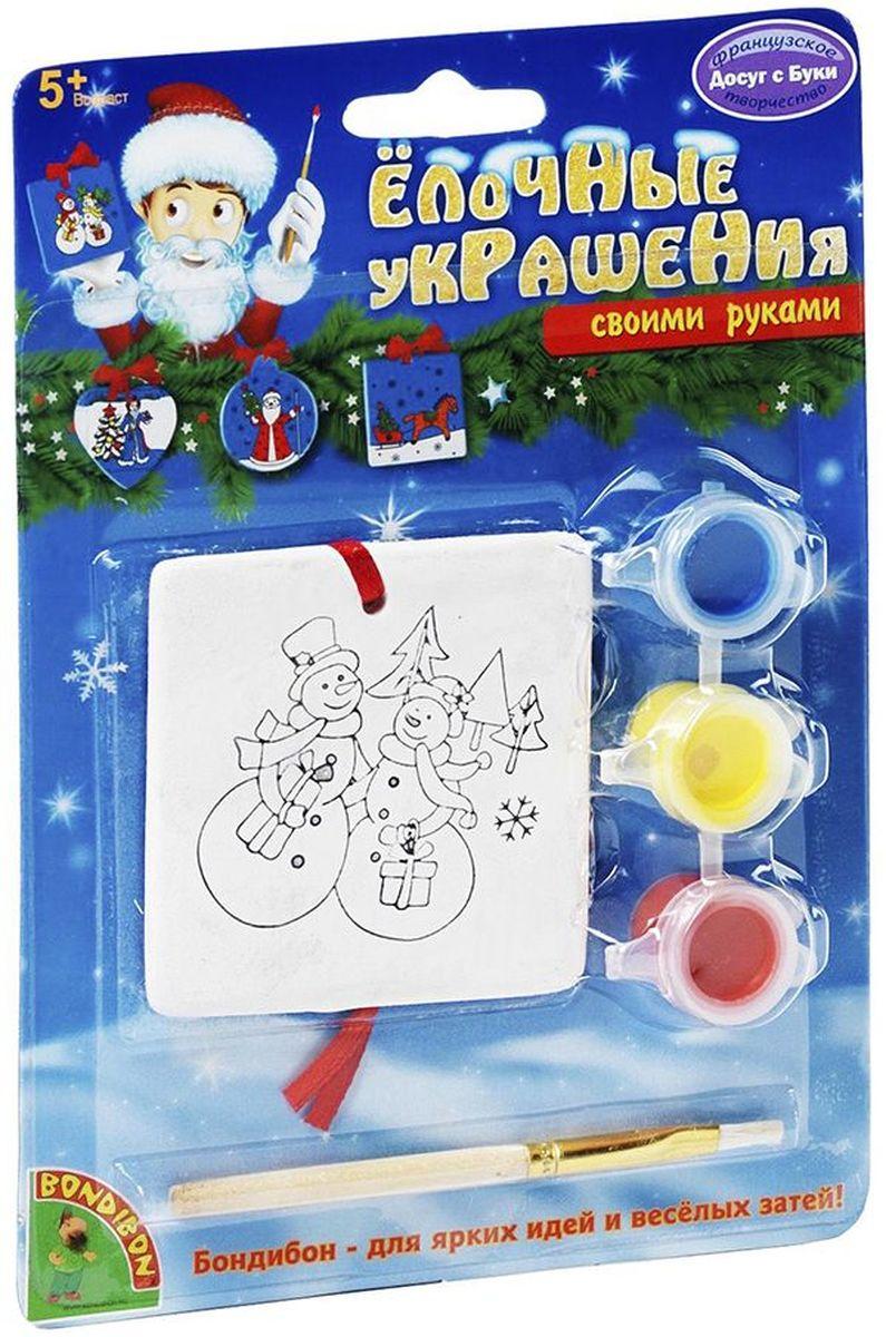Bondibon Набор для росписи Новогодне украшение Квадрат Досуг с Буки
