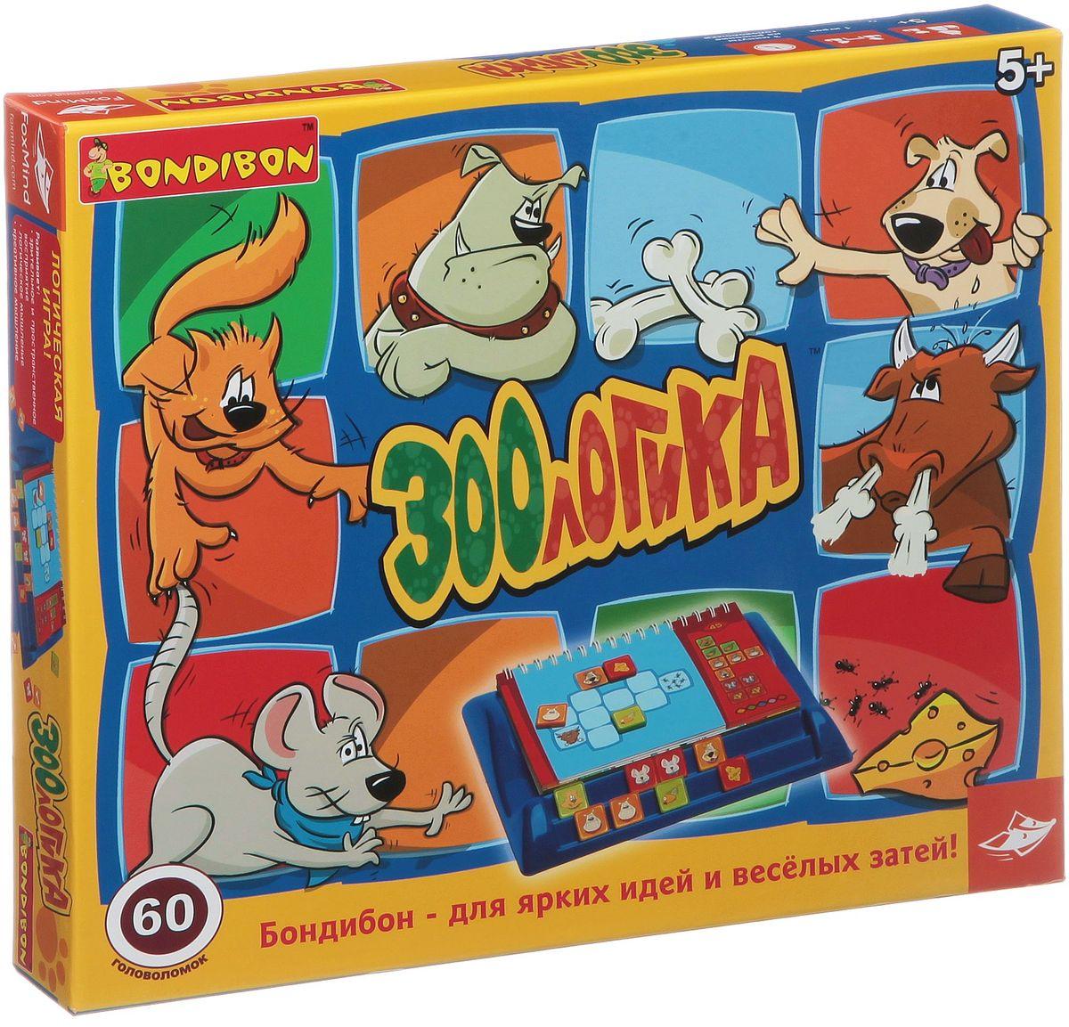 Bondibon Развивающая игра ЗоологикаВВ1148Какие животные могут мирно уживаться рядом, а каких нельзя подпускать близко друг к другу, чтобы они не поссорились? Что предпочитает на обед кошка, чем любит лакомиться мышка или собачка? На эти вопросы ответит настольная логическая игра Зоологика, состоящая из 60 головоломок с 5 уровнями сложности. Она развивает зрительное и пространственное восприятие, а также логическое и креативное мышление. В заданиях различной сложности нужно разместить животных на карточках так, чтобы они не ссорились и при этом могли полакомиться любимой едой. На первый взгляд, задача несложная, но в процессе игры выясняется, что справиться с ней не так просто. Не беда, если не получится сразу правильно разместить животных и их любимые лакомства – можно воспользоваться подсказкой в буклете. Но если игрок вооружится логикой, то вполне сможет обойтись без подсказок. Игра имеет несколько уровней сложности, поэтому играть в Зоологику интересно и малышам, и школьникам, и даже...