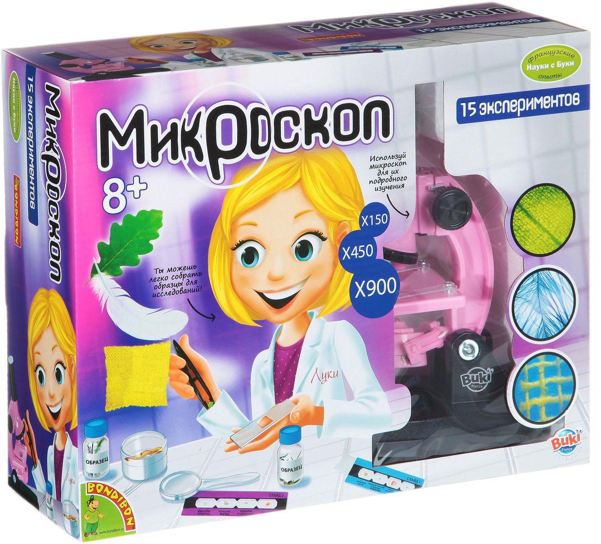 Bondibon Набор для опытов Микроскоп для девочекВВ1214Микромир – это целое открытие для юных исследователей, ведь они даже не подозревали, что в нем столько загадочного, интересного и увлекательного! С помощью научно-познавательного набора для опытов Микроскоп для девочек этот удивительный мир мельчайших, невидимых глазу частиц станет доступным. Самый настоящий микроскоп с набором предметов, необходимых для исследования, позволит ребенку проводить интереснейшие наблюдения за живыми клетками и самыми разными материалами. Для этих целей доступно целых 15 различных экспериментов. Оказывается, любая материя состоит из микроскопических частиц, молекул – совокупности связанных между собой атомов, а атомы, в свою очередь, также делятся на более мелкие элементы – ядро и электроны. Да и микроскопы, как выясняется, тоже бывают разные. Это ли не чудесные научные открытия для любознательного ребенка?
