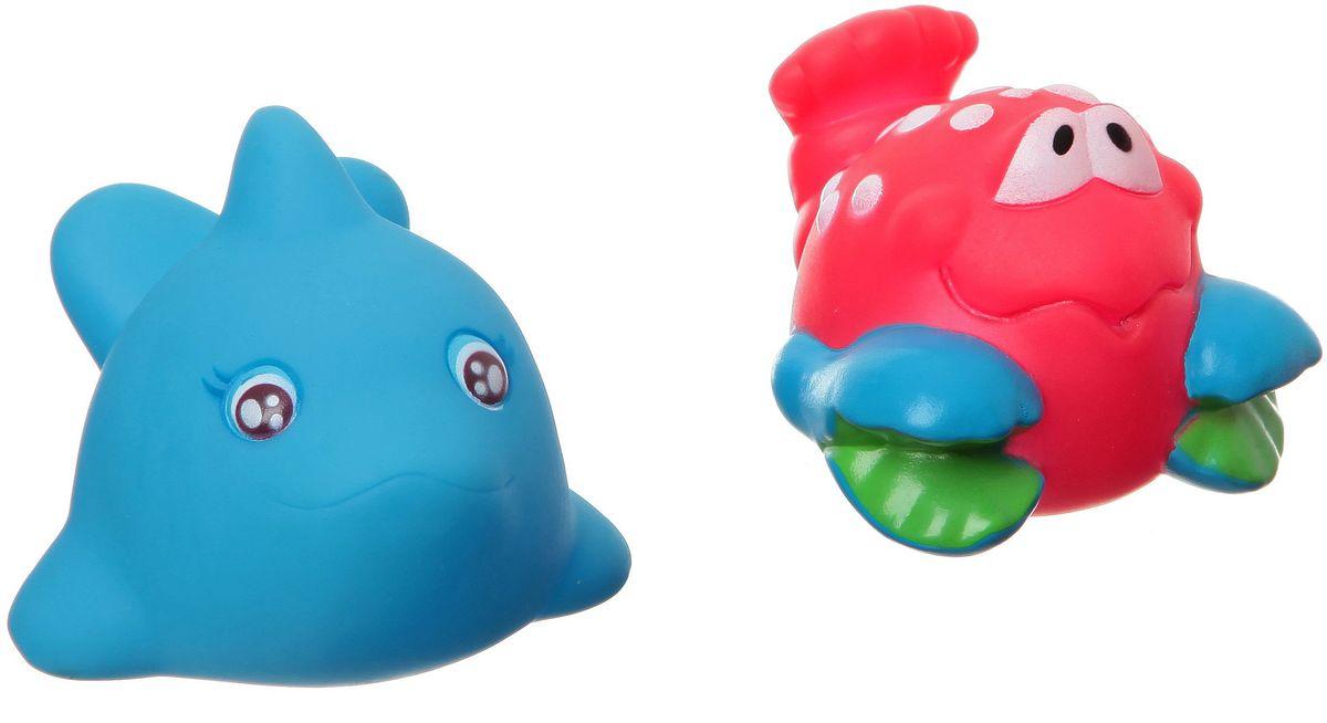Bondibon Набор для купания Дельфин, КрабВВ1387Набор для купания Дельфин, Краб от Bondibon - это отличная развивающая игрушка, сделанная из качественных и безопасных материалов. Детям понравится играть с ними! Купание с такой игрушкой превратится в праздник!