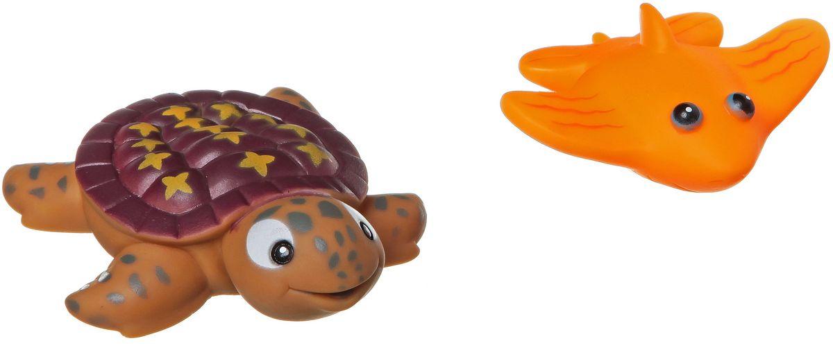 Bondibon Набор для купания Черепаха, СкатВВ1388Набор для купания Черепаха, Скат от Bondibon - это отличная развивающая игрушка, сделанная из качественных и безопасных материалов. Детям понравится играть с такой яркими и забавными зверушками! Купание с ними превратится в праздник!