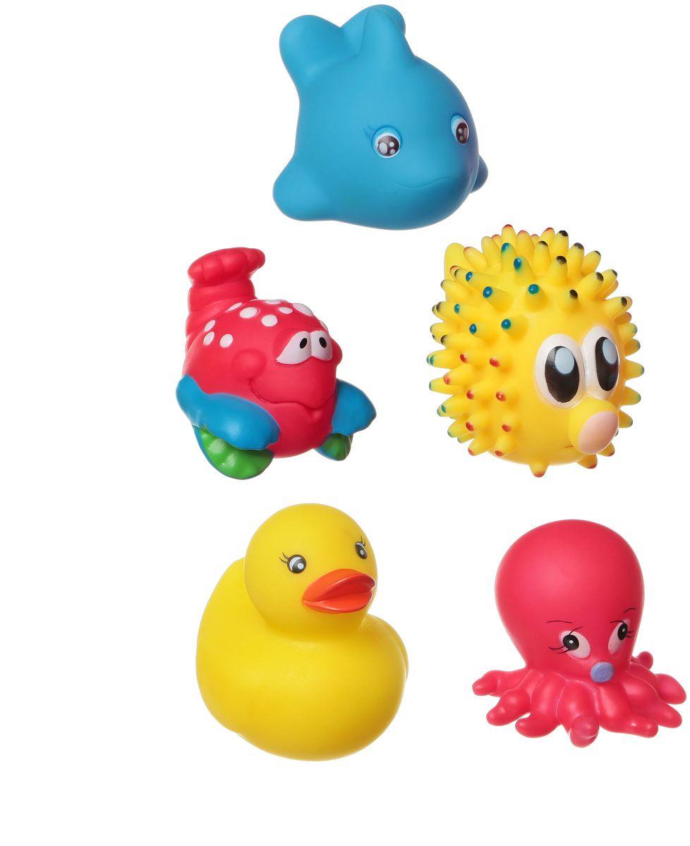 Bondibon Набор для купания Морской еж, Дельфин, Утка, Осьминог, КрабВВ1401Набор для купания Морской еж, Дельфин, Утка, Осьминог, Краб от Bondibon - это отличная развивающая игрушка, сделанная из качественных и безопасных материалов. Детям понравится играть с ними! Купание с такой игрушкой превратится в праздник!