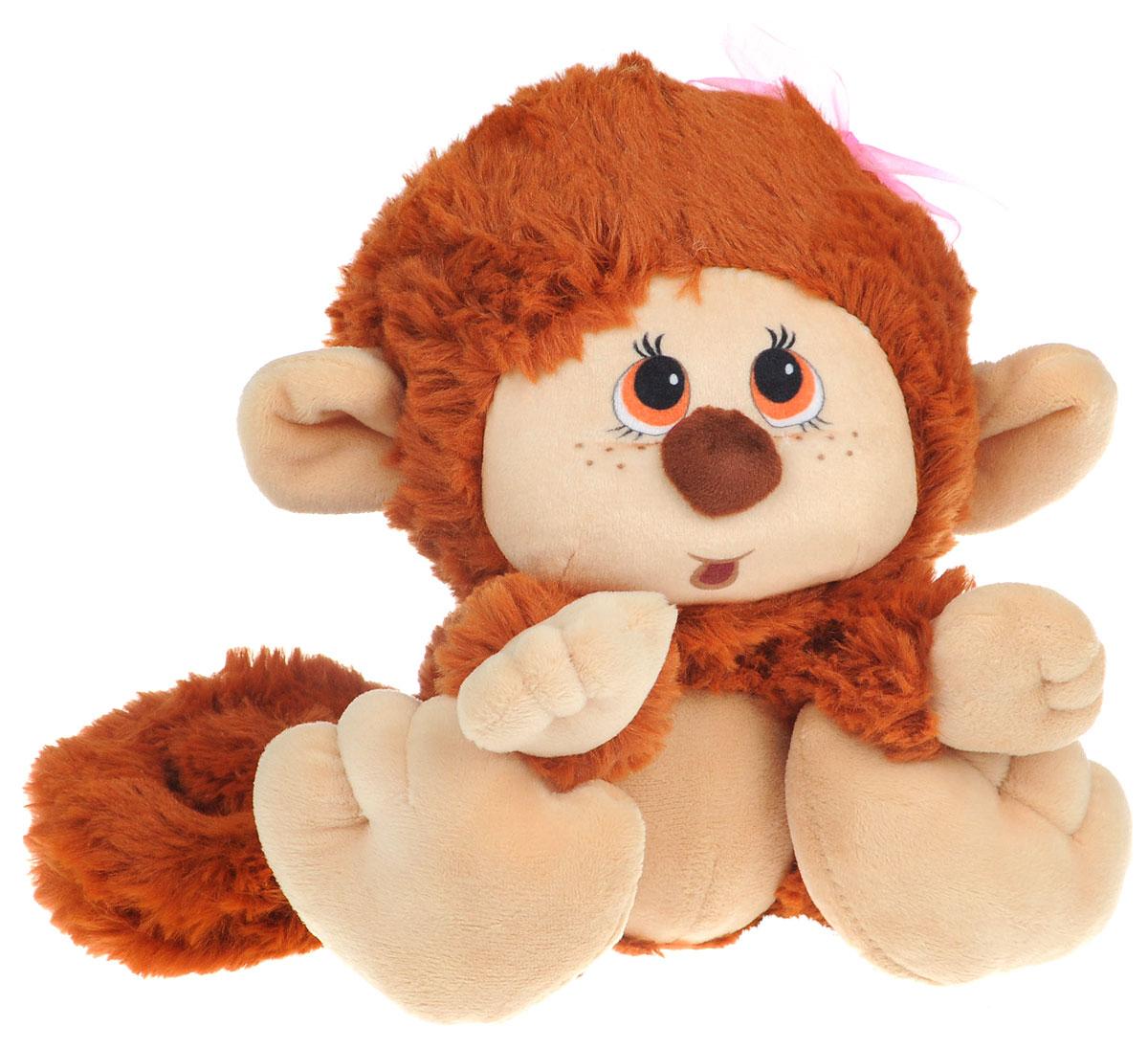 СмолТойс Мягкая игрушка Обезьянка 20 см1862/КЧ/20Мягкая игрушка СмолТойс Обезьянка - символ 2016 года, станет отличным подарком и принесет новогоднее настроение в ваш дом. Изготовлено изделие из высококачественных нетоксичных материалов, абсолютно безопасных для ребенка. Милая обезьянка, выполненная в коричневом цвете с розовым бантиком на голове, не оставит вас равнодушным. Великолепное качество исполнения делает эту игрушку чудесным подарком, как для ребенка, так и для взрослых. Уход за игрушкой: стирка при максимальной температуре 30°С, не гладить.