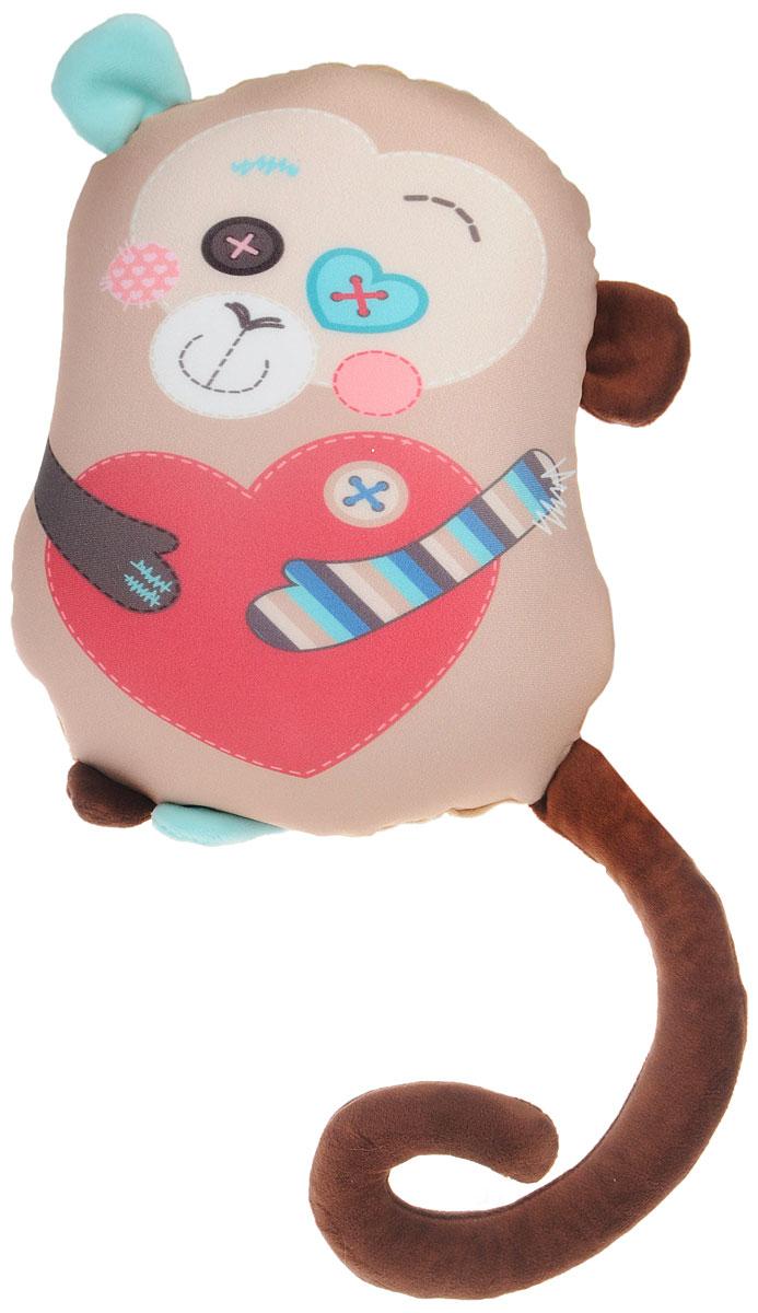 СмолТойс Мягкая игрушка-подушка Обезьянка Ляля 31 см
