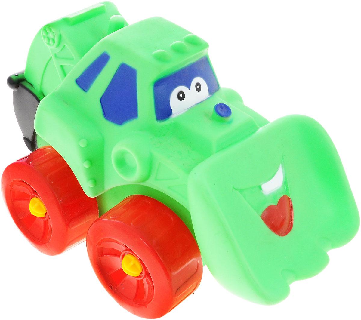 Erpa Бульдозер Tombis цвет зеленый красный660931_зеленый, красныйЯркая машинка-бульдозер Erpa Tombis понравится вашему малышу. Машинка выполнена из высококачественного мягкого пластика. Большие колеса со свободным ходом обеспечивают хорошую проходимость. Такая игрушка способствует развитию у малыша тактильных ощущений, мелкой моторики рук и координации движений.
