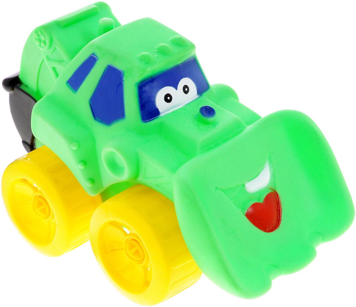 Erpa Бульдозер Tombis цвет зеленый желтый660931_зеленый, желтыйЯркая машинка-бульдозер Erpa Tombis понравится вашему малышу. Машинка выполнена из высококачественного мягкого пластика. Большие колеса со свободным ходом обеспечивают хорошую проходимость. Такая игрушка способствует развитию у малыша тактильных ощущений, мелкой моторики рук и координации движений.