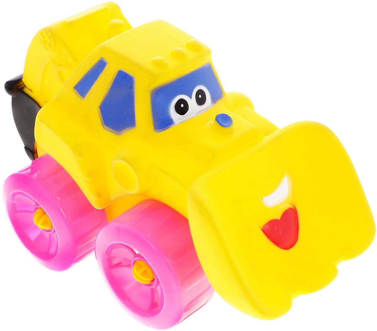Erpa Бульдозер Tombis цвет желтый розовый660931_желтый, розовыйЯркая машинка-бульдозер Erpa Tombis понравится вашему малышу. Машинка выполнена из высококачественного мягкого пластика. Большие колеса со свободным ходом обеспечивают хорошую проходимость. Такая игрушка способствует развитию у малыша тактильных ощущений, мелкой моторики рук и координации движений.