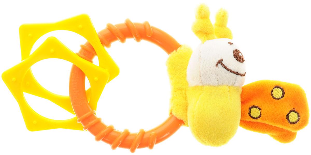 Simba Погремушка Насекомые цвет оранжевый желтый4019619_оранжевыйЗамечательная игрушка-погремушка Simba Насекомые, несомненно, вызовет улыбку и положительные эмоции у вашего малыша. Погремушка сочетает в себе яркие элементы с различными функциональными возможностями. Ручка очень удобна для захвата маленькими детскими пальчиками, поэтому при помощи этой игрушки малыша будет легко научить удерживать предметы. Погремушка выполнена из высококачественного безопасного пластика, поэтому малыш может использовать ее как прорезыватель. В игровой форме малыш ознакомится с такими понятиями, как: звук, цвет и форма предмета.
