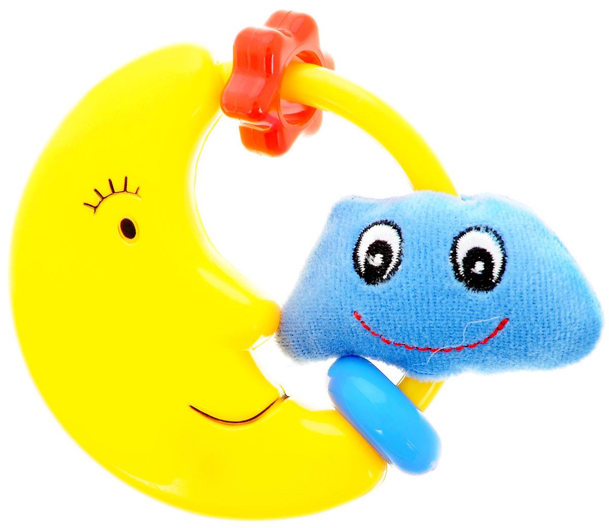 Simba Погремушка Тучка4011616_тучкаЗамечательная игрушка-погремушка Simba Тучка, несомненно, вызовет улыбку и положительные эмоции у вашего малыша. Погремушка сочетает в себе яркие элементы с различными функциональными возможностями. Ручка очень удобна для захвата маленькими детскими пальчиками, поэтому при помощи этой игрушки малыша будет легко научить удерживать предметы. Погремушка выполнена из высококачественного безопасного пластика, поэтому малыш может использовать ее как прорезыватель. В игровой форме малыш ознакомится с такими понятиями, как: звук, цвет и форма предмета.