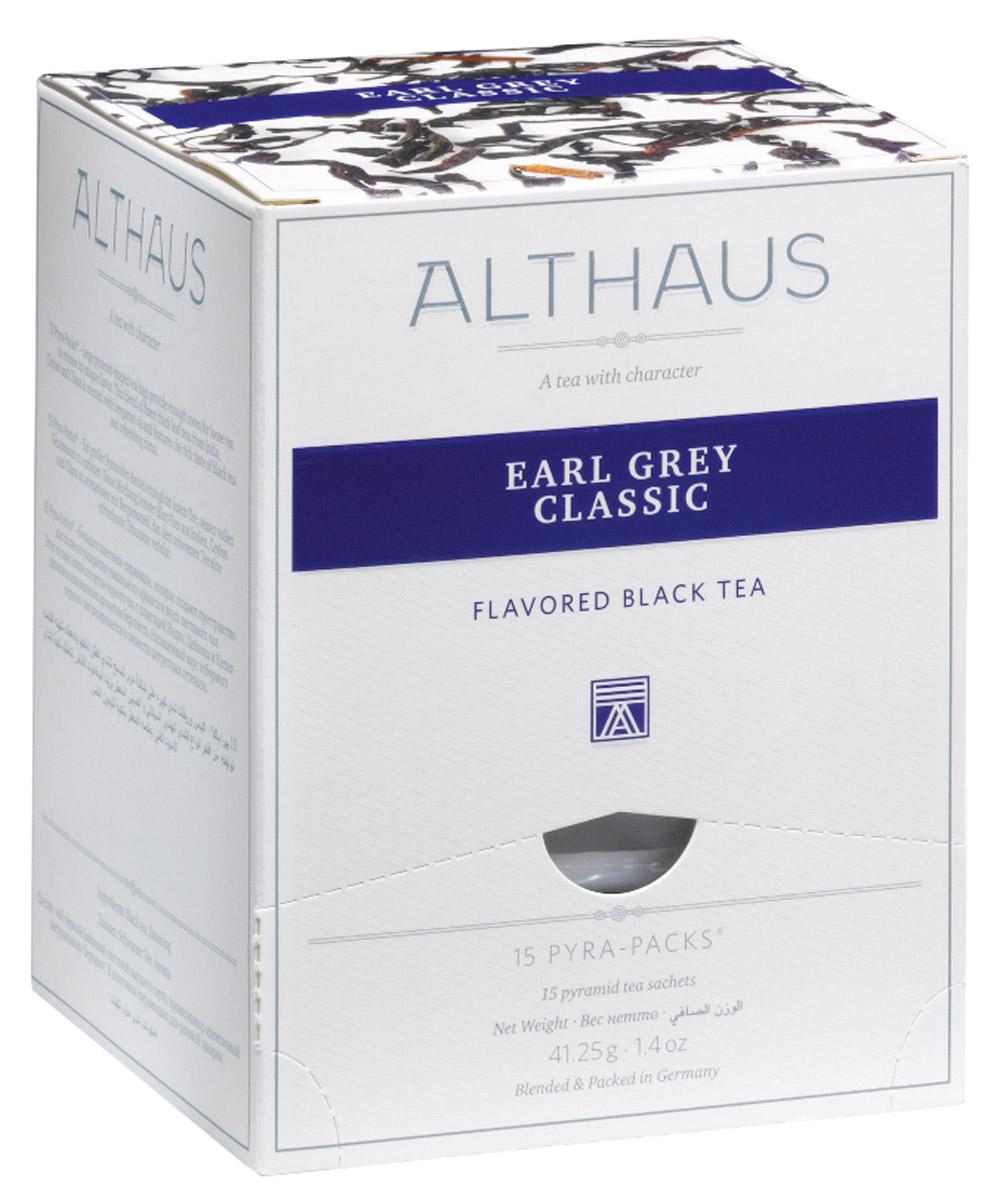 Althaus Earl Grey Classic чай черный ароматизированный в пирамидках, 15 штTALTHL-L00142Althaus Earl Grey Classic - чай изысканный, но в то же время очень яркий. Главное достоинство этого чая — в характерном аромате бергамота. Дымно-горьковатое, чуть терпкое благоухание спелых средиземноморских плодов придает чаю легкую пряность, теплую свежесть солнечного утра Италии и таинственную сладковатую ноту. При заваривании стойкий маслянисто-бальзамический букет превращается в едва уловимый, невесомый цитрусовый оттенок, на фоне которого продолжает играть выразительная мелодия благородных сортов черного чая из Индии, Китая и Шри-Ланки. Красивый медно-ореховый настой с золотистым отливом дает яркий, бодрящий вкус с полным и свежим характером. Завершают эту мелодию сдержанные древесные ноты. Pyra-Pack - это коллекция из 13 купажей, в которую вошли лучшие сорта высококачественного листового чая, а также отборные смеси из цельных кусочков фруктов, ягод, цветочных лепестков, целебных трав. Pyra-Pack представляет собой инновационный...