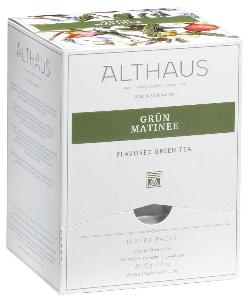 Althaus Grun Matinee чай зеленый ароматизированный в пирамидках, 15 штTALTHL-L00146Althaus Grun Matinee — необыкновенный купаж классического японского зеленого чая Сенча, изысканных фруктовых ароматов и цветочных лепестков. Он дает настой с деликатным букетом и освежающим послевкусием. В нежном цветочно-фруктовом аромате чувствуются тропические нотки, пряность бергамота и медовая сладость манго. Изящные лепестки пурпурной розы, небесно-синего василька и по-летнему яркого подсолнечника органично дополняют замечательный вкус этого чая. Роза смягчает остроту зеленой Сенчи, василек и подсолнечник придают напитку утреннюю свежесть и чистоту. Утром Grun Matinee взбодрит вас терпкостью раннего зеленого чая, а вечером согреет теплыми нотами полевых цветов. Pyra-Pack - это коллекция из 13 купажей, в которую вошли лучшие сорта высококачественного листового чая, а также отборные смеси из цельных кусочков фруктов, ягод, цветочных лепестков, целебных трав. Pyra-Pack представляет собой инновационный вариант высокотехнологичной...