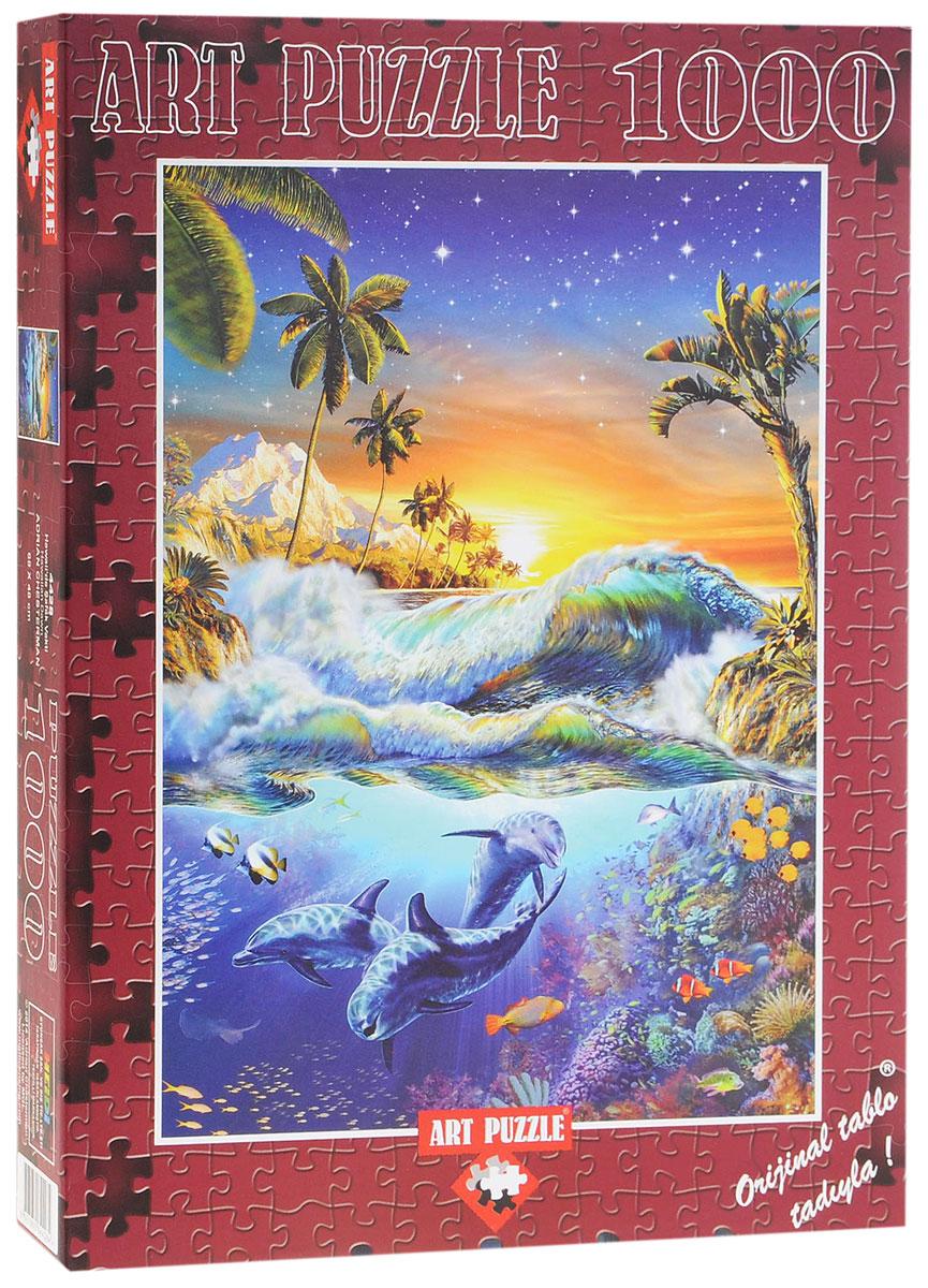 Art Puzzle Пазл Рассвет на Гавайях4428Пазл Рассвет на Гавайях, без сомнения, придется вам по душе. Собрав этот пазл, включающий в себя 1000 элементов, вы получите великолепную работу современного художника Адриана Честермана. На собранном изображении вы увидите удивительно красивую картину с морскими обитателями и чудесным островом. Этот пазл станет лучшим подарком как для юного художника, так и для взрослого ценителя искусства. Насыщенно яркое реалистичное изображение радует глаз, а процесс сборки становится приятным наслаждением, ведь детали арт-пазла аккуратны, а их сцепка прочна. Собирать пазл можно в компании друзей, в кругу семьи или в одиночестве, погрузившись в приятные воспоминания. Собранный пазл, вставленный в рамку, станет украшением любого интерьера и произведет неизгладимое впечатление на гостей и домочадцев.